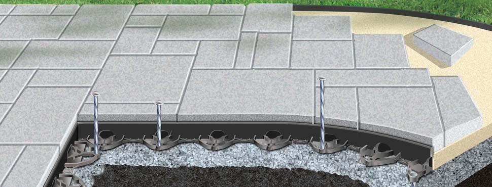 Brickstop Paver Edging and Paver Edger Supplies - Brickstop